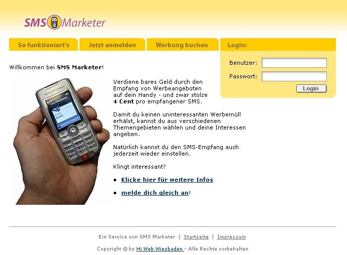 SMS Marketing System PHP Script