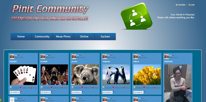 Pinit Community System PHP Script