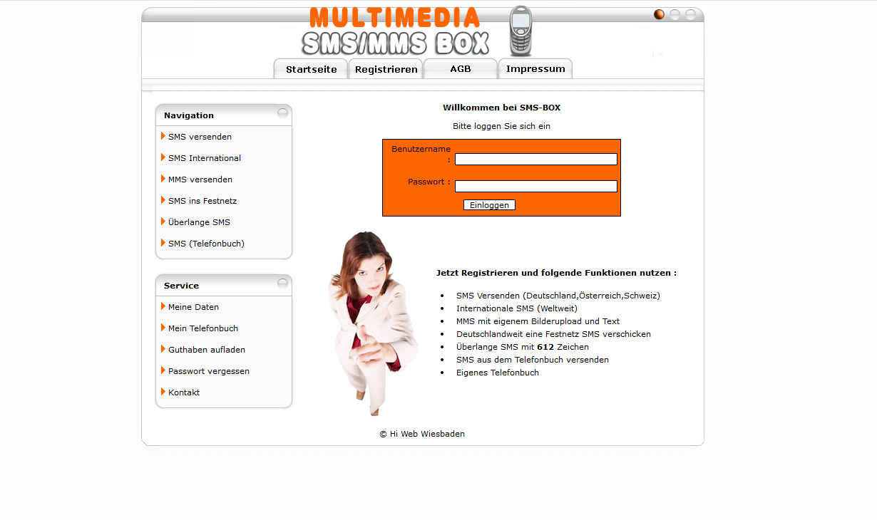 PHP Script Multimedia SMS/MMS System