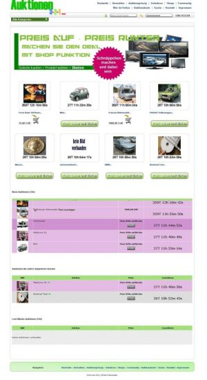 PHP Script Pay Per Watch & Bid Auktions System - Mit Shop Funktion